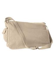 Authentic Pigment 14 oz. Pigment-Dyed Raw-Edge Messenger Bag