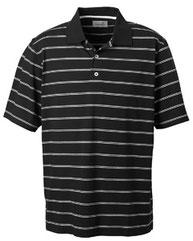 Ashworth Men's  High Twist Cotton Tech Stripe Polo
