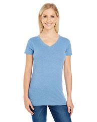 Threadfast Apparel Ladies' Vintage Dye Short-Sleeve V-Neck T-Shirt 208B