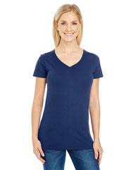 Threadfast Apparel Ladies' Pigment-Dye Short-Sleeve V-Neck T-Shirt 230B
