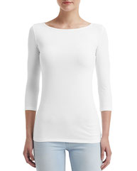 Anvil Ladies' Stretch 3/4 Sleeve T-Shirt 2455L