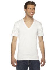 American Apparel Unisex USA Made Fine Jersey Short-Sleeve V-Neck T-Shirt 2456