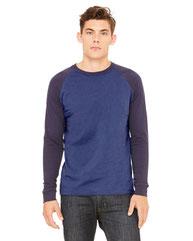 Bella + Canvas Men's Jersey Long-Sleeve Baseball T-Shirt 3000C