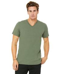 Bella + Canvas Unisex Jersey Short-Sleeve V-Neck T-Shirt 3005