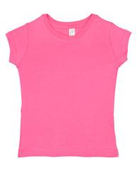 Rabbit Skins Toddler Girls' Fine Jersey T-Shirt