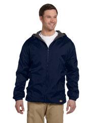 Dickies Men's Fleece-Lined Hooded Nylon Jacket 33237