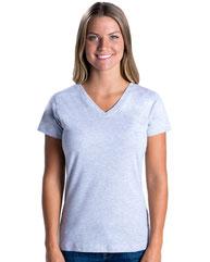 LAT Ladies' V-Neck Fine Jersey T-Shirt