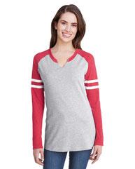 LAT Ladies' Gameday Mash-Up Long Sleeve Fine Jersey T-Shirt