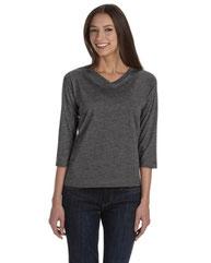LAT Ladies' Premium Jersey 3/4-Sleeve T-Shirt 3577