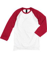 Hanes Men's 4.5 oz., 60/40 Ringspun Cotton/Polyester X-Temp® Baseball T-Shirt 42BA
