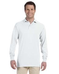 Jerzees Adult 5.6 oz. SpotShield™ Long-Sleeve Jersey Polo 437ML
