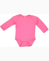 Rabbit Skins Infant Long-Sleeve Baby Rib Bodysuit 4411