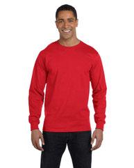 Hanes Men's 5.2 oz. ComfortSoft® Cotton Long-Sleeve T-Shirt 5286