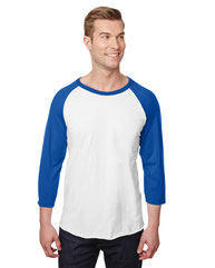Jerzees Adult  5.2 oz., Premium Blend Ring-Spun Raglan Baseball T-Shirt 560RR