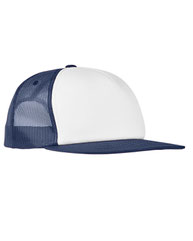 Yupoong Foam Trucker with White Front Snapback