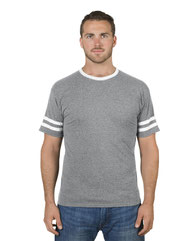 Jerzees Adult 4.5 oz. TRI-BLEND Varsity Ringer T-Shirt 602MR