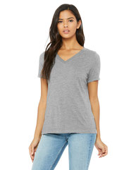 Bella + Canvas Ladies' Relaxed Jersey V-Neck T-Shirt 6405