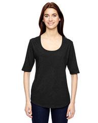 Anvil Ladies' Triblend Deep Scoop 1/2-Sleeve T-Shirt 6756L