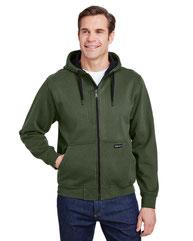 Dri Duck Men's Bateman Power Full Zip Hooded Fleece