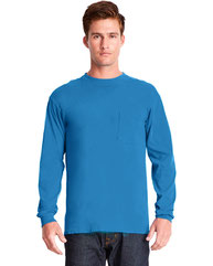 Next Level Adult Inspired Dye Long-Sleeve Crew with Pocket 7451