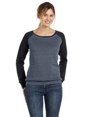 Bella + Canvas Ladies' Sponge Fleece Wide Neck Sweatshirt 7501