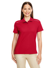 Core 365 Ladies' Radiant Performance Piqué Polo with Reflective Piping 78181R