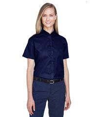 Core 365 Ladies' Optimum Short-Sleeve Twill Shirt 78194