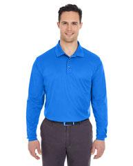 UltraClub Adult Cool & Dry Long-Sleeve MeshPiqué Polo 8210LS