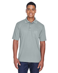 UltraClub Adult Cool & Dry Mesh PiquéPolo with Pocket 8210P