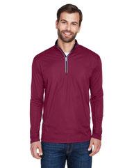 UltraClub Men's Cool & Dry Sport Quarter-Zip Pullover 8230