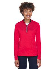 UltraClub Ladies' Cool & Dry Sport Quarter-Zip Pullover 8230L