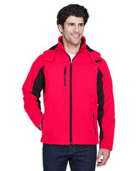 UltraClub Adult Colorblock 3-in-1 Systems Hooded Soft Shell Jacket 8290