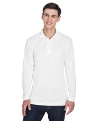 UltraClub Adult Cool & Dry Sport Long-Sleeve Polo 8405LS