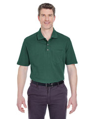 UltraClub Adult Classic Piqué Polo withPocket 8534