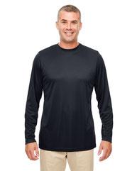 UltraClub Men's Cool & Dry Performance Long-Sleeve Top