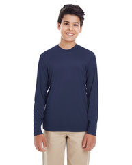 UltraClub Youth Cool & Dry Performance Long-Sleeve Top 8622Y