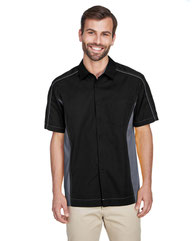 North End Men's Fuse Colorblock Twill Shirt 87042