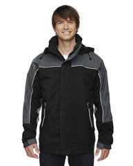 North End Adult 3-in-1 Seam-Sealed Mid-Length Jacket with Piping 88052