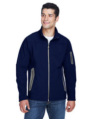 North End Men's Three-Layer Fleece Bonded Soft Shell Technical Jacket