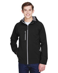 North End Men's Prospect Two-Layer Fleece Bonded Soft Shell Hooded Jacket 88166