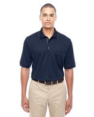 Core 365 Men's Motive Performance Piqué Polo with Tipped Collar 88222