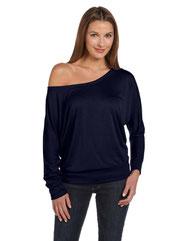 Bella + Canvas Ladies' Flowy Long-Sleeve Off Shoulder T-Shirt 8850
