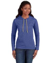 Anvil Ladies' Lightweight Long-Sleeve Hooded T-Shirt