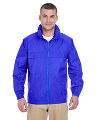 UltraClub Adult Full-Zip Hooded Pack-Away Jacket 8929