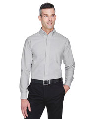 UltraClub Men's Classic Wrinkle-Resistant Long-Sleeve Oxford