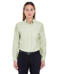 UltraClub Ladies' Classic Wrinkle-Resistant Long-Sleeve Oxford 8990