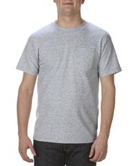 Alstyle Adult 6.0 oz., 100% Cotton Pocket T-Shirt AL1305