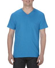 Alstyle Adult 4.3 oz., Ringspun Cotton V-Neck T-Shirt AL5300