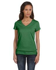 Bella + Canvas Ladies' Jersey Short-Sleeve V-Neck T-Shirt B6005