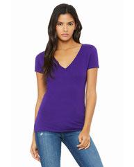 Bella + Canvas Ladies' Jersey Short-Sleeve Deep V-Neck T-Shirt B6035